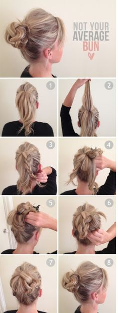 Not your average Bun - #knotbun #bun #hairstyle #hairtutorial #updo #hairbun #buntutorial - bellashoot.com