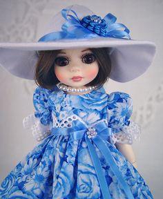 "Dress fits Tonner Patsy, Ann Estelle, Yo-sd, 10-11"" Little Charmers Doll Designs #LittleCharmersDollDesigns"