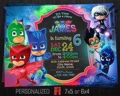 PJ máscaras invitación fiesta de cumpleaños por FavoriteInvitations