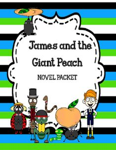 James and the Giant Peach Novel Study Unit Bundle Plot Activities, 5th Grade Activities, Vocabulary Activities, James And Giant Peach, Figurative Language Activity, Text To World, Text To Self, English Writing, Novels