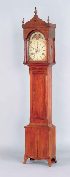 Pennsylvania Federal Tall Case Clock circa 1810 100.5 inches high.
