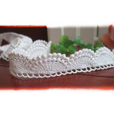 """10 Yards 3/4"""" 2cm Wide Cotton & Venise Embroidered Cluny Lace Trim Fabric Ribbon For Garment Wedding Accessory Home Decor DIY Craft Supply In White Trimscraft http://www.amazon.com/dp/B010O1I75Y/ref=cm_sw_r_pi_dp_igi.wb14AVJJR"""