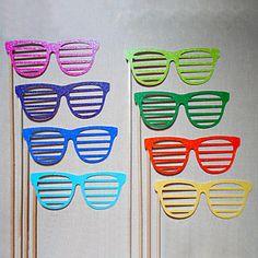 結婚式/パーティー用のカラフルなメガネ写真写真の小道具(8個) - JPY ¥ 808