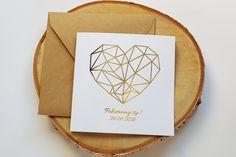 Zaproszenie ślubne geometryczne serce pozłacane. Wszystkie informacje na temat tego zaproszenia, znajdziesz na naszej stronie! Pan i Pani Zakochani Tableware, Dinnerware, Tablewares, Dishes, Place Settings