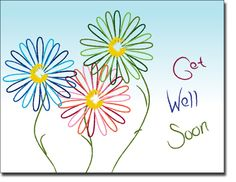 Get well soon | ... Greeting Cards  Get Well Cards  Abstract Daisies Get Well…