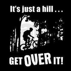 Biking the hill. http://XtremeBiking.com