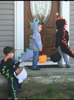 Toddler Dinosaur Sweatshirt & Tail Halloween Costume by KidHub