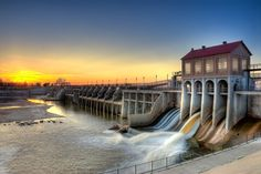 Overholser Dam by Jim Felder on Travel Oklahoma, Oklahoma City, My Horse, Landscape Photos, Day Trips, Places To Go, Waterfall, Tornadoes, Magpie