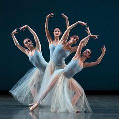 Miami City Ballet dancers in Serenade. Photo © Gene Schiavone.