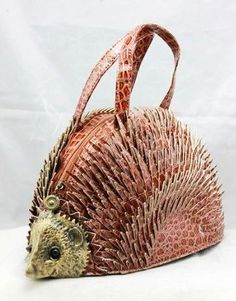 Hedgehog purse. Even this is too crazy for me!