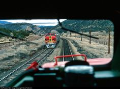 RailPictures.Net Photo: Atchison, Topeka & Santa Fe (ATSF) EMD F7(A) at Canyoncito, New Mexico by Steve Patterson