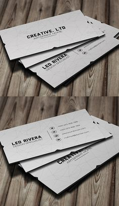 White Minimal Business Card #businesscards #corporatedesign #businesscarddesign #psdtemplates