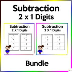 Utilize these worksheets to reinforce two digits by one digit subtractionThis resource includes 20 pages ( 4 items per page) of worksheets and answer key.Check out our other Math resources. Click on the link below.Math resources...