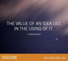 If you have a good idea, don't keep it to yourself! Enquire today: http://ducere.co/enquire/