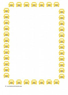 Taxi Car Paper Selection A4. Plain, lined and half lined. Great for transport topic. EYFS