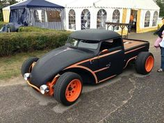 orange and black Volksrod truck