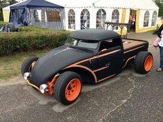 orange and black Volksrod truck