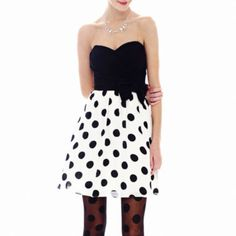 Be Smart Strapless Polka Dot Dress   found at @JCPenney @juliahead13