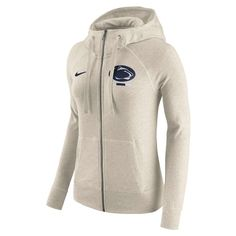 Women's Nike Penn State Nittany Lions Gym Vintage Hoodie, Size: Medium, Natural