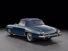 1959 Mercedes Benz #190SL (blue/cognac). Source: http://arthur-bechtel.com. For all your Mercedes Benz #190SL restoration needs please visit us at http://www.bruceadams190sl.com. #BruceAdams190SL.