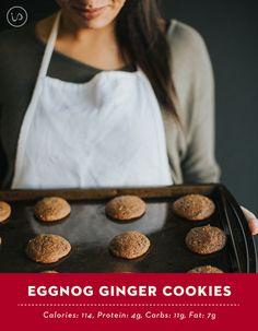 Healthy Eggnog Ginger Cookies