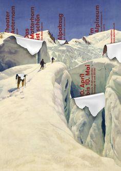 Erich Brechbühl [Mixer] – The Matterhorn is beautiful / Alpabzug [2013] (based on a poster by Ernst Hodel from 1928)