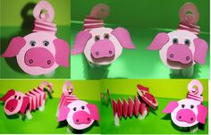 Use for oi and yo Farm Animal Crafts, Pig Crafts, New Year's Crafts, Animal Crafts For Kids, Animal Projects, Toddler Crafts, Preschool Crafts, Easy Crafts, Art For Kids