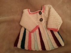 Lovely crochet Cardigan for baby girl. Another quick and easy project :)