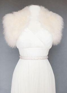 Marabou Feather Bolero Jacket. $325.00, via Etsy.