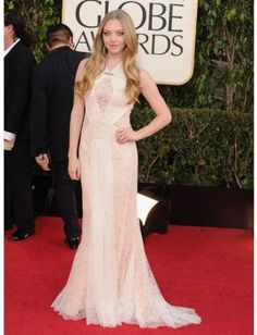 Beautiful Amanda Seyfried at the Golden Globe Awards 2013