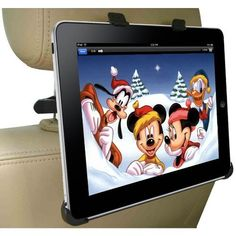 ipad mount for headrest. totally doing this when we have kids.