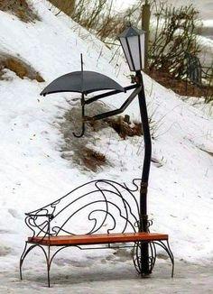 Criatividade até na chuva