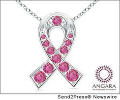 Angara Round Pink Sapphire Necklace in Yellow Gold 78V79g4H