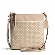 Coach  MADISON NORTH/SOUTH SWINGPACK IN OP ART PEARLESCENT FABRIC