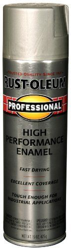 Rust-Oleum 7519838 Professional High Performance Enamel Spray Paint  Stainless Steel  14-Ounce: http://www.amazon.com/Rust-Oleum-7519838-Professional-Performance-Stainless/dp/B002BWOSCQ/?tag=greavidesto05-20