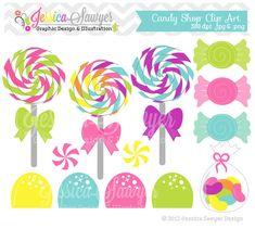 INSTANT DOWNLOAD  candy shop clip art  por JessicaSawyerDesign, $3.00