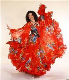 Цыганское платье фото