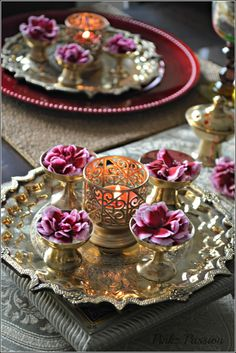 Pinkz Passion : A guest post at Aalayam ( Brass Tablescape)