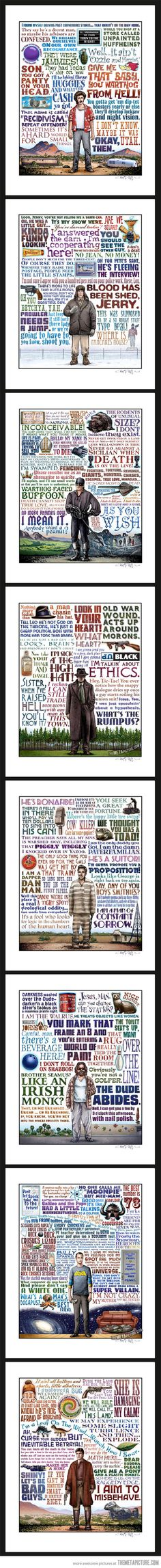I think I NEED this for my home decor!!!  Tributes to cult phrases of iconic characters…