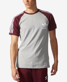 A timeless look with fresh details, this adidas Originals T-shirt is the ultimate in all-day comfort and sporty style. | Cotton | Machine washable | Imported | Slim fit for a modern look | Ribbed crew