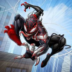 Patrick Brown Art and Digital Illustration - the Graphic Assembly Marvel Venom, Marvel Villains, Marvel Art, Marvel Heroes, Marvel Comic Character, Marvel Characters, Patrick Brown, Action Pose, All Spiderman