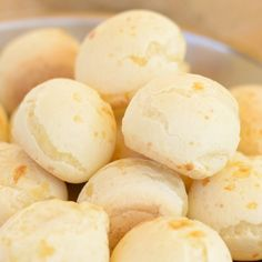 A very yummy recipe for Brazilian cheese bread or Pao De Queijo. This Gluten free snack is delicious.