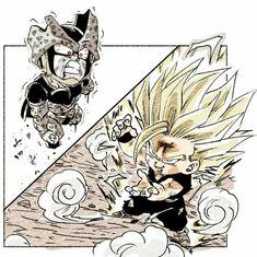 Dragon Ball Gt, Dragon Z, Anime Chibi, Manga Anime, Anime Art, Gohan Vs Cell, Akira, Z Arts, Character Design