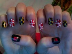 Toothpick Nail Art: Maryland Nails