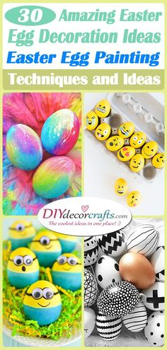 30 AMAZING EASTER EGG DECORATION IDEAS - Easter Egg Painting Techniques and Ideas