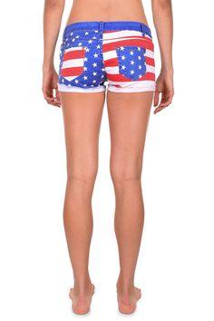 5879cd1b34 Women's American Flag Jean Shorts | Tipsy Elves. Patriotic Apparel, Stars  and Stripes,