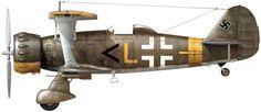Hs.123A-1 II/SG 2; Аэродром Херсонес-Южный, СССР, Крым, апрель 1944 г