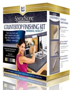 Daich SpreadStone Mineral Select Countertop Kit – Best DIY images in 2019 Countertop Refinishing Kit, Resurface Countertops, Countertop Kit, Laminate Countertops, Kitchen Countertops, Rustoleum Countertop, Painting Countertops, Kitchen Cabinets, Diy Simple