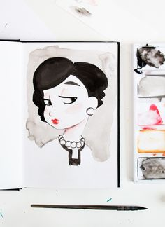 Sketchbook - Coco Chanel Sketch / painting