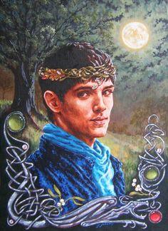 The Mistletoe Prince by ~ObsidianSerpent on deviantART (Merlin Emrys / Arthur Pendragon, Merthur, Colin Morgan, Bradley James, Merlin Fanart)